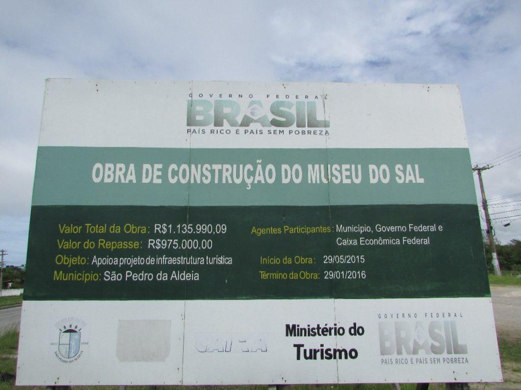Obra foi orçada em R$ 1.135.990,09, com repasse de R$ 975.000,00. Foram gastos apenas R$346.834,13 no projeto, afirma Prefeitura