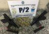 Pistolas e munições são apreendidas em Cabo Frio
