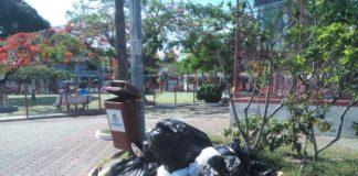 Vários pontos da cidade apresentam acúmulo de detritos