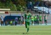 Atacante João Carlos comemora gol que rendeu o empate a equipe de Cabo Frio.