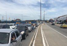 Avenida América Central registra trânsito intenso