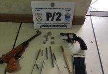 Homem com oito passagens criminais é preso por porte ilegal de armas em São Pedro