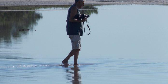 Fernando Gabeira grava documentário sobre aves migratórias em Cabo Frio