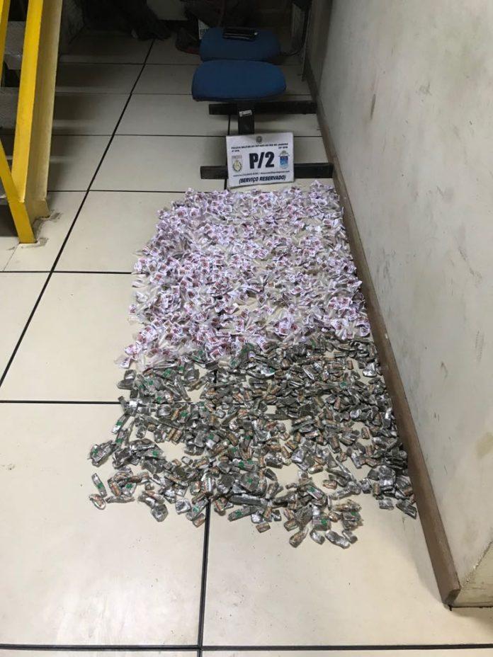 Grande quantidade de cocaína e maconha é apreendida em São Pedro