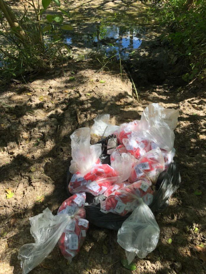 Drogas foram encontradas enterradas