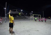 Competições de beach soccer são reiniciadas em São Pedro