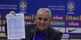 Os 23 escolhidos foram apresentados nesta tarde na sede da CBF, no Rio de Janeiro.