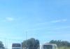 Caminhões parados em Búzios.