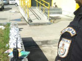 Suspeito teria oferecido R$ 10 mil aos policiais para não ser detido. Foto: PM/Divulgação
