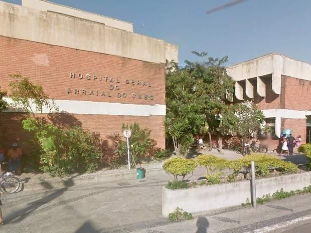 O homem ferido foi encaminhado para o Hospital Municipal de Arraial do Cabo. Foto: Internet/Reprodução