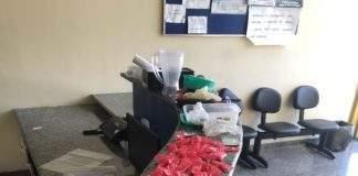 Material apreendido em Arraial do Cabo. Foto: PM/Divulgação