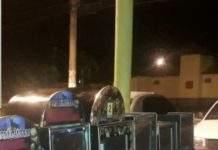 Ao todo, sete máquinas foram encontradas no local. Ninguém foi preso. Foto: PM/Divulgação