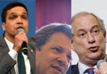 Confira os perfis dos presidenciáveis Cabo Daciolo, Fernando Haddad e Ciro Gomes