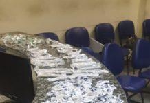 Material estava escondido. Foto: Divulgação/ Polícia Militar
