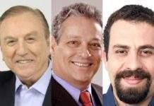 José Maria Eymael, João Goulart Filho e Guilherme Boulos