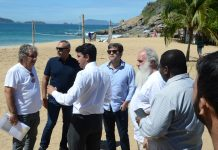 Medida teve o objetivo de retirar construções irregulares na faixa de areia. Foto: Prefeitura/Divulgação