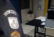 A polícia recebeu denúncias de que suspeitos estariam efetuando disparos em Botafogo, Cabo Frio, nesse domingo (23).