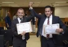 A Cerimônia de diplomação do prefeito eleito de Iguaba Grande, Vantoil Martins (PPS) e o vice Alexandre Carvalho (PSB) aconteceu nesta segunda-feira (27) no Fórum de Iguaba Grande.